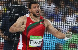 2016 Rio Olympics - Athletics - Final - Men's Hammer Throw Final - Olympic Stadium - Rio de Janeiro, Brazil - 19/08/2016. Ivan Tikhon (BLR) of Belarus reacts.  REUTERS/Phil Noble  FOR EDITORIAL USE ONLY. NOT FOR SALE FOR MARKETING OR ADVERTISING CAMPAIGNS.   - RTX2M6PM