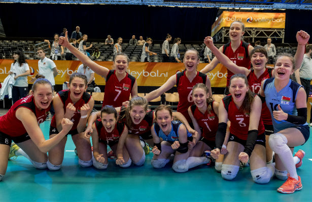 Сборная Белоруссии вышла вполуфинал молодежногоЧЕ поволейболу