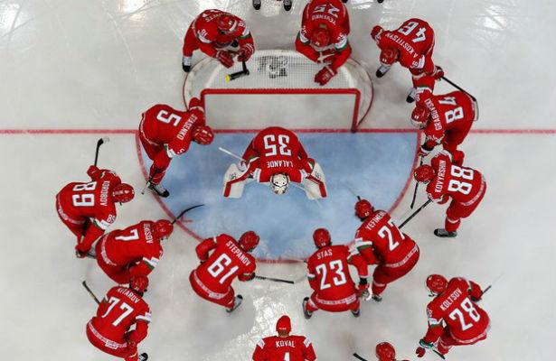 Сборная Швейцарии похоккею всухую обыграла сборную Белоруссии